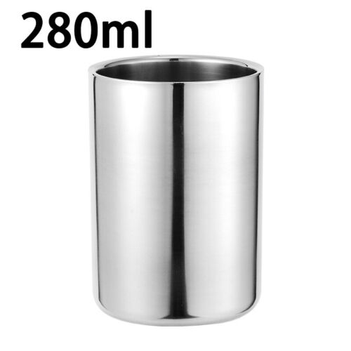Travel Double Wall Coffee Mug Stainless Steel Camping Picnic Drinking Cups