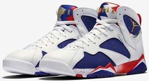 low priced 94906 c62b7 Details about Nike Air Jordan 7 Retro Olympic Tinker Alternate Sz 17 White  Blue Red 304775-123
