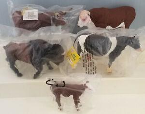 Papo-Mojo-Safari-Ltd-Model-Toy-Cow-Buffalo-Bull-Cattle-Animal-Group-of-5