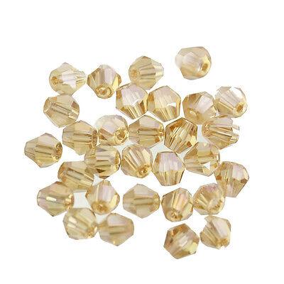 Lot 100 Perles Cristal à Facette Bicône 4x3mm Neuf Couleur Choisi