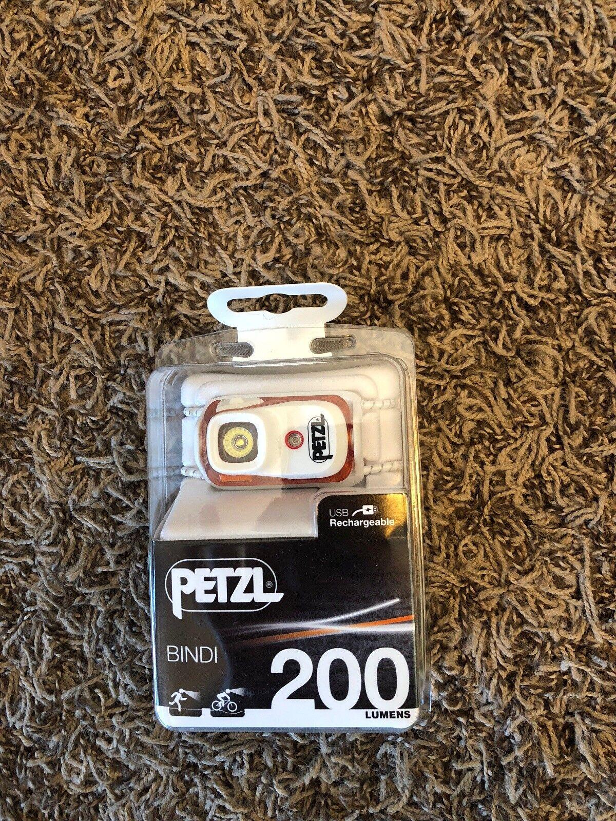 Petzl Bindi Active Headlamp 200 Lumens Orange USB Rechargeable Brand New