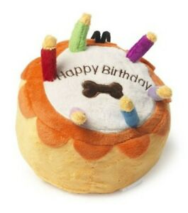 Image Is Loading Dog Toy Happy Birthday Cake Sewn Plush Candles