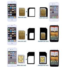 CONVERT Nano SIM Card to MICRO Standard SIM Adapter SET For Apple iPhone 4 5s 6s