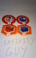 Disney Infinity 2.0 Marvel Heroes Power Disc Lot 4 Rares Gauntlet Yondu Ghost