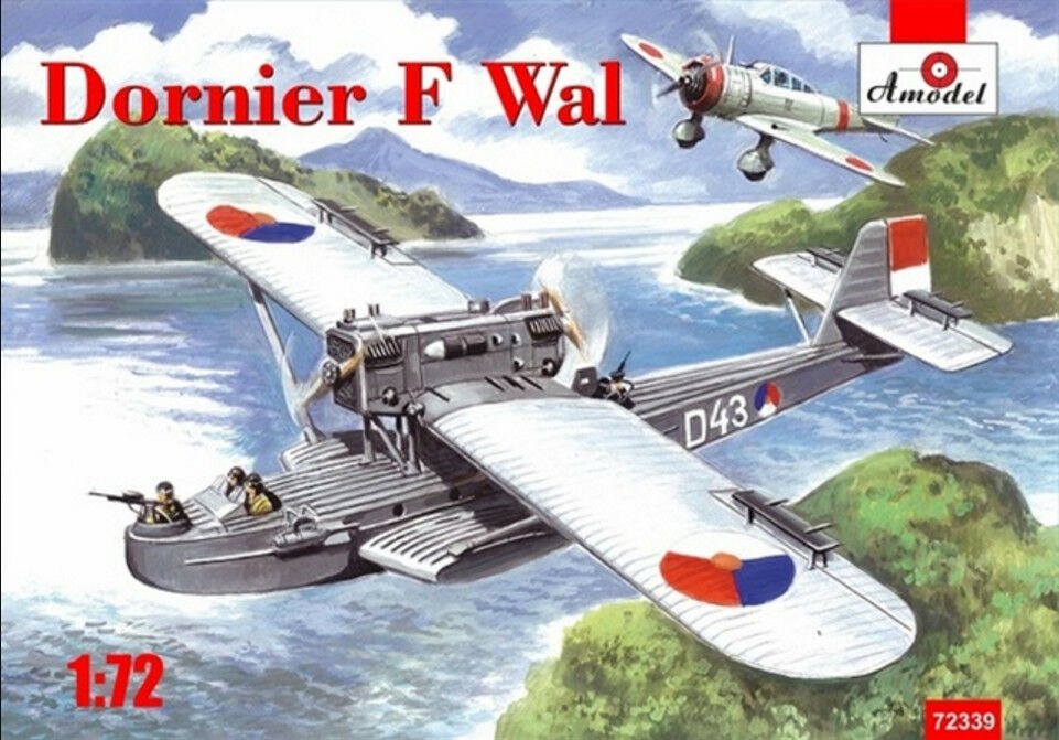 PLASTIC MODEL BUILDING DORNIER DO J   F WAL EAST INDIA WAR 1 72 AMODEL 72339