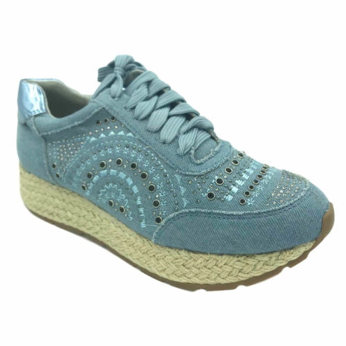 Ladies Espadrilles Lace Up Casual Holiday Sneakers Trainers Wedges New Size 3-8