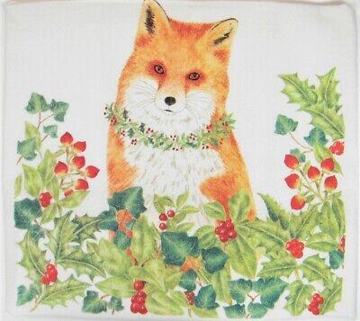 Towels Dishcloths Alice S Cottage Cotton Flour Sack Kitchen Tea Towel Christmas Snow Bunny Holly Home Garden Mbln Org
