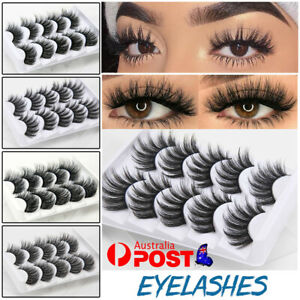 10X 3D Mink Handmade Fake Eyelashes Natural Long Wispy Makeup False Lashes