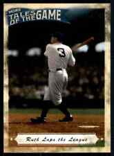 2010 Topps Tales of the Game #TOG-2 Curse of the Bambino New York Yankees Boston Red Sox Babe Ruth baseball card