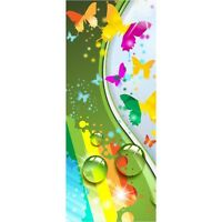 Wallpaper Door Child Butterflies Design 1737