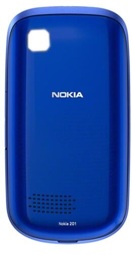 new product 084b6 09b25 Nokia Asha 200 201 Standard Battery Door Back Cover Housing Blue Replacement