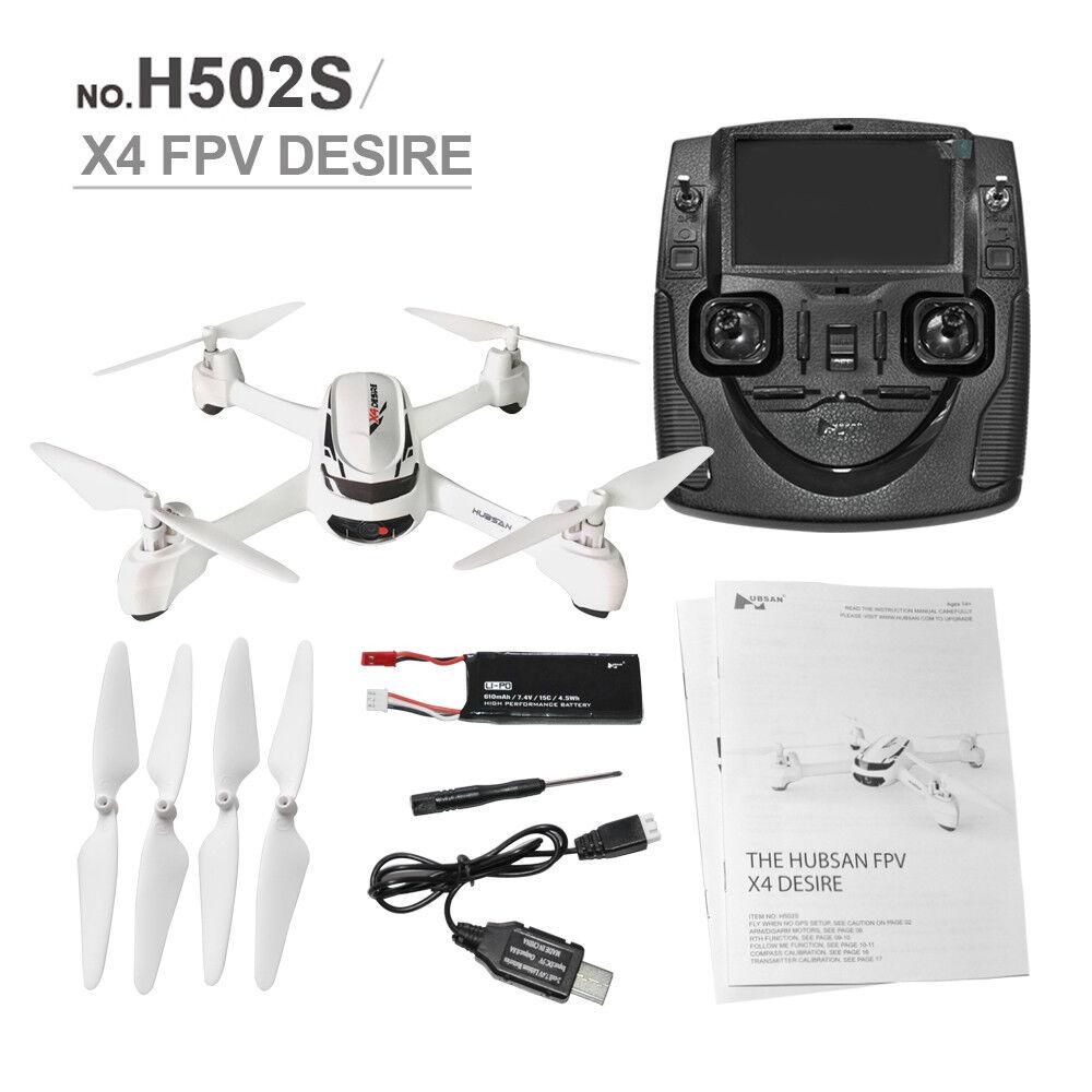 Nuevo Hubsan X4 H502S 5.8G vista en primera persona modo de altitud GPS Radio Control Remoto con Cámara 720P