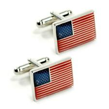 AMERICAN FLAG CUFFLINKS Patriotic USA NEW w GIFT BAG United States America US