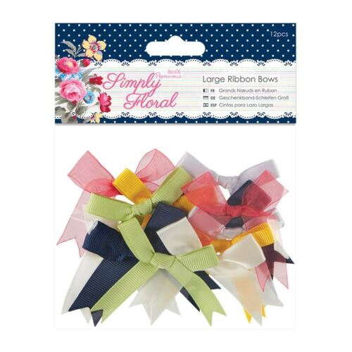 DOCRAFTS Arcos de la cinta 12 un. simplemente Floral para Tarjetas y Manualidades