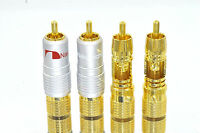 4 High Quality Nakamichi Rca Locking Plug Gold Audio Adapter Connector N0816 Usa