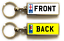 miniature 2 - Personalised Metal Double Sided Registration Number Plate Keyring Any Name /Text