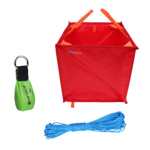 Rock Climbing Arborist Throw Line Rope Sling Gear Storage Deploy Cube Bag