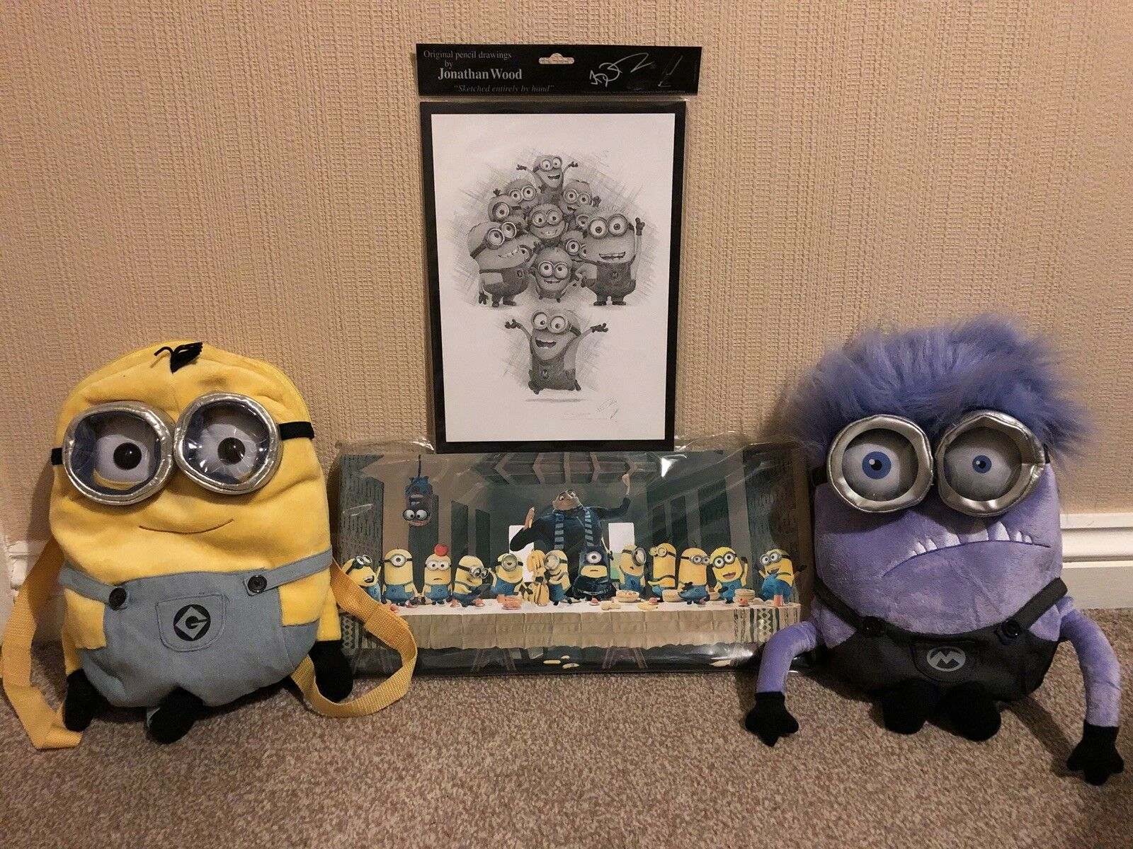 Minion Bundle Of Bags And Art