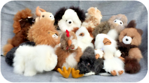100% Genuine ALPACA STUFFIE Stuffed Soft Toy Animal Teddy Bear Lion Rabbit Horse