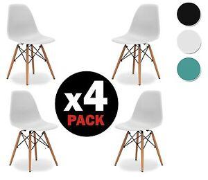 Set-di-4-sedia-per-sala-da-pranzo-tavolo-cucina-moderne-robusto-design-nordico