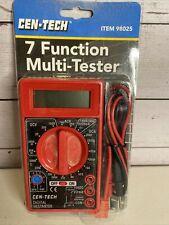 Sealed Cen Tech 7 Function Digital Multi Tester Multimeter 98025 New Free Ship