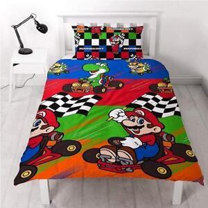 Nintendo Mario Mariokart Champions Einzelbett Bettwasche Kinder