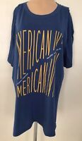 Old Navy Tshirt Women's Size Xxl %100 Cotton Blue
