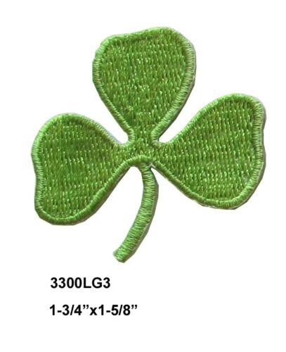 Irish Clover Applique Patch #3300 Lot 2Pcs Irish Shamrock,ST Patrick/'s Day Leaf