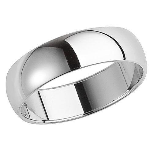 950 Brand New Platinum Medium Weight Wedding Ring Band D Shaped Profile