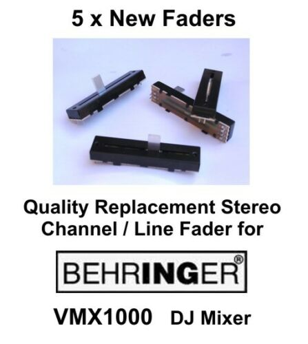 5 x BEHRINGER VMX1000 VMX 1000 DJ mixer Replacement Stereo Channel fader //slider