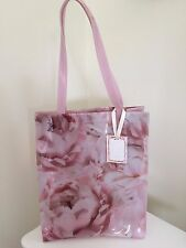 Gorgeous  Pink Floral Wipe Clean shopper Bag ideal Gift