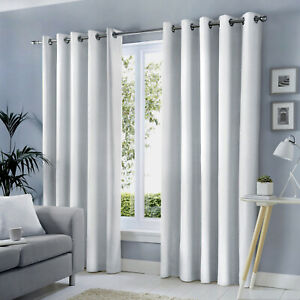 Fusion White Eyelet Curtains 100