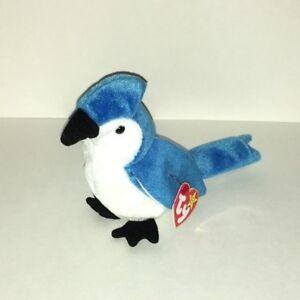 3253a622148 Ty Original Beanie Baby Rocket Blue Jay Bird Plush Figure 1998 New ...