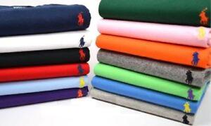 Hombres-Polo-Ralph-Lauren-Cuello-Redondo-Camiseta-Mangas-Cortas