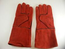 Gloves Cowhide Leather Lined Welding Burning Fireplace Camping Bbq 13