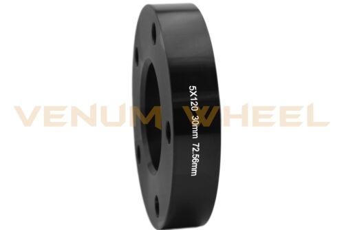 Chrome Bolts Fits E23 E38 2 Pc Black BMW HubCentric Wheel Spacer Kit 30MM 72.56