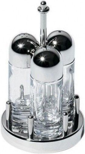 Alessi - 5073-Condiment set  sel, poivre, cure-dents