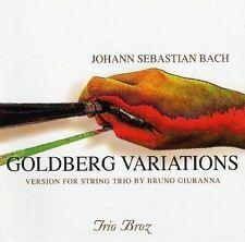 Bach-Trio Broz Bruno Giuranna-Goldberg Variations (For String Trio) Cd Mint