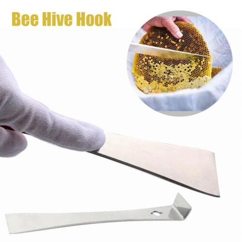 Stainless Steel Curved Tail Bee Hive Hook Scraper Tool Beekeeping Equipment