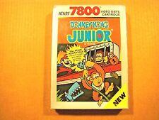 Donkey Kong Junior (Atari 7800, 1988) By Atari New In Box (NIB) (Old Stock) NTSC