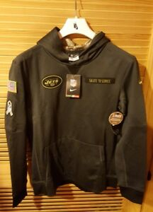 reputable site 446e8 00101 Details about Nike NFL New York Jets Salute to Service OnFIELD Authentic  Hoodie Yth L 14/16