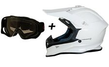CASCO MOTO CROSS ONE TIGER BIANCO TG XS MASCHERINA CROSS ENDURO