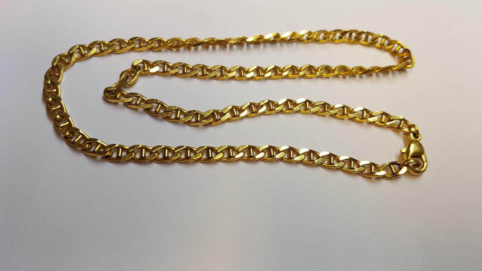 COLLANA COLLIER placcato gold Amerikaner AMERIC FBM DOPPIA L 44 cm