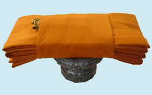 7pcs YellowMustard Details about  /Buddhist Thai Theravada Monk Triple Robe Double Sanghati 1Set