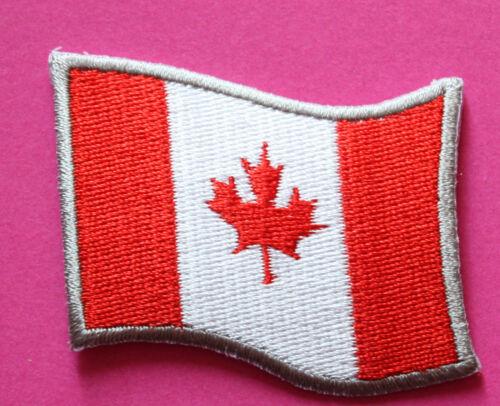 patch Fahne Canada maple leaf flag iron on Bügelbild Aufbügler Kanada Aufnäher