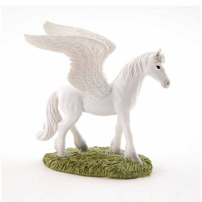 "4638 Enchanted Story Fairy Garden NEW 3.75/"" Mini Pegasus Horse Statue Miniature"
