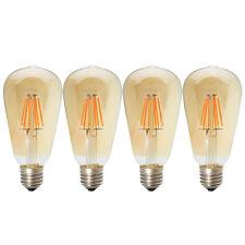 4x Dimmbare LED E27 6W ST64 Filament Glühbirne Edison Vintage Glühlampe 2200K