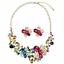 Women-Fashion-Bib-Choker-Chunk-Crystal-Statement-Necklace-Wedding-Jewelry-Set thumbnail 14