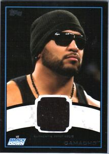 WWE-Camacho-2012-Topps-BLACK-BORDER-Event-Worn-Shirt-Relic-Card-50
