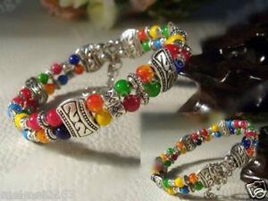 Fashion-jewelry-Tibet-Tibetan-silver-ladies-Lucky-beads-bracelet-bangle